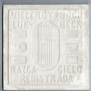 Large lot of 170 field white Villeroy & Boch Original antique reclaimed tiles