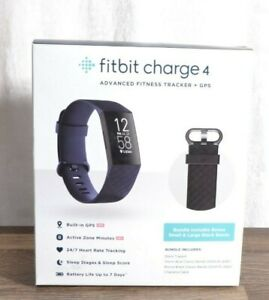 Fitbit Charge 4 Activity Tracker - Storm Blue/Black