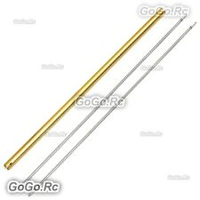 2 Pcs Torque Tube + 1 Pcs Gold Tail Boom For Trex 450L Helicopter