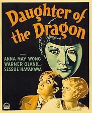 Daughter of the Dragon Anna May Wong 1931 Classic Film Poster 10x8 Inch Reprint