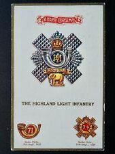 More details for regimental badges christmas, highland light infantry postcard gale & polden 1639