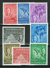 Seychelles - 1952 King George VI (short set of 8 stamps)