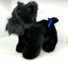 "Russ Scottish Terrier 12"" X 13"" Plush Black Scotty Dog Stuffed Animal ""Shadow"""