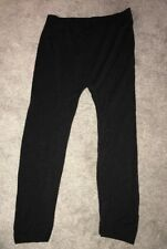 Ladies Black Leggings Half Leg Size One Size Fits S-L Style 5