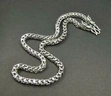 "98G 925 Sterling Silver 20"" Flexible Fluid Men's Dragon Scale Chain Necklace"