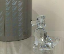 Swarovski Crystal Figurine Poodle Sitting Dog 7619 000 005 In Box