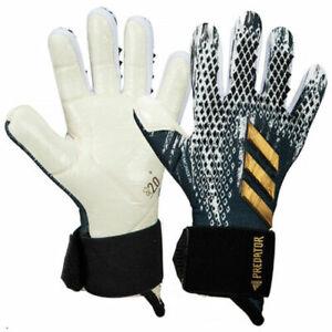 Adidas Men GK Predator Glove Soccer Black Goalkeeper Gloves FS0409 Multiple Size