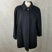 Forecaster Size 10 100% Wool Coat Jacket Button Up Long Winter Professional
