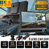 4'' HD 1080P Dual lens Car DVR Dash Cam Video Rear view Camera Recorder GPS