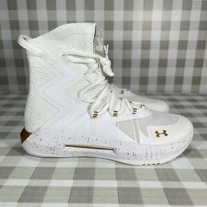 Under Armour Womens Highlight 3021376-100 White Mid-Top Athletic Shoes Size 10