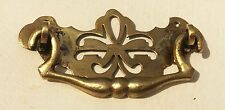 "Circa 1750 Chippendale Federal antique hardware drawer pull brass 2 1/2"" center"
