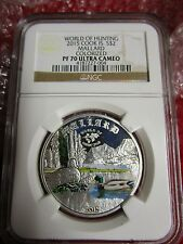 2015 Cook Islands World of Hunting Mallard Duck NGC PF 70 .925 Silver Coin Quack
