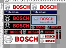 *1 SET. BOSCH INVENT FOR LIFE RACING TOOL DECALS STICKER COLOR PRINTED DIE-CUT