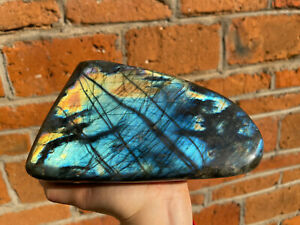 5.17LB Natural Labradorite Quartz Crystal Mineral Spectrolite Healing L46