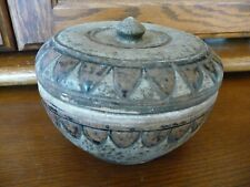 Incredible Antique Sawankhalok Thailand Covered Box 15th Century