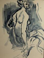 Künstlerische Aquarell-Malereien mit Akt- & Erotik-Motiv