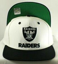 Los Angeles Raiders Hat Snapback White/ Black Adj Adult NEW By Reebok