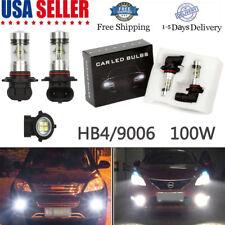 2 x 9006 HB4 LED High Power 2323 100W Super White DRL Fog Light lamp Bulbs 6000K
