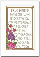 TRUE FRIEND - ANY OCCASION - CROSS STITCH CARD KIT