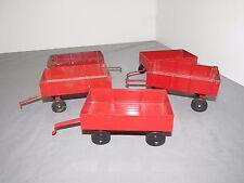 1/32 ERTL IH International Harvester Farmall Wagon LOT of 5 Wagons Toy