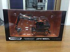 Rare! Bobcat Doosan DX160W Wheeled Excavator 1:50 Scale Black Editon UH8138
