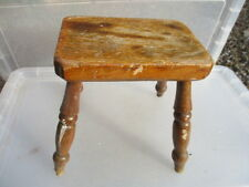 Small Vintage Wooden Stool Seat Pine Retro Children Kids Step