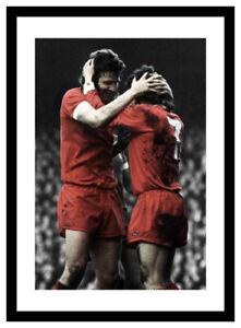 Liverpool Legends John Toshack and Kevin Keegan Spot Colour Photo Memorabilia