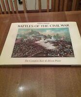 BATTLES of the CIVIL WAR Kurz & Allison Prints LTD Edition Numbered LIKE NEW