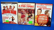 Pelicula EN DVD en alquiler pack especial COMEDIA DEPORTIVA-buen estado-3 dvds