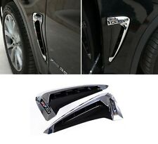 Chrome Side Body Marker Fender Air Wing Vent Trim M Cover for BMW X5 2014-2017
