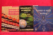 La farandole des bracelets brésiliens et d'amitié - Lot de 3
