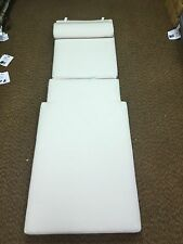 Frontgate SUNBRELLA Outdoor Patio Chaise Lounge Cushion White 30x84 Headrest NEW