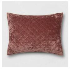Threshold Vintage Wash Velvet Mauve Diamond Stitch Sham Standard
