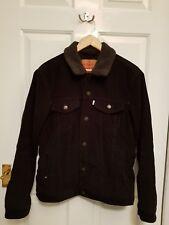 Levis mens black corduroy sherpa trucker jacket M medium