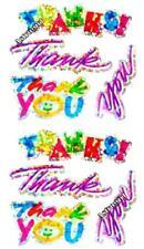 ~ Sparkle Thanks Thank You Rainbow Silver Hambly Studio Glitter Stickers ~