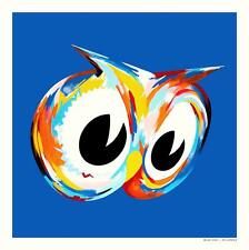 BLUE OWL COLORFUL HOMAGE PRINT BY KII ARENS