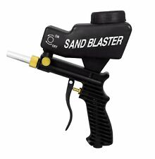 LEMATEC Sandblasting Gun AS118 Gravity Feed Black Air Sandblaster with free tip