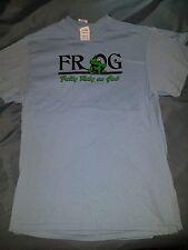 F.R.O.G. (Fully Rely On God) Men's Christian Blue Medium T-shirt  [New]