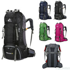 20-60L Waterproof Backpack Outdoor Hiking Camping Sports Bag with Rain Cover