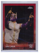 2015 Topps WWE Chrome SIN CARA #65 Red Refractor SP #'d 3/5 lucha libre