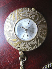 Made Pendant Watch Nurse's Watch Necklace 1927 Rodania 17 Jewels Incabloc Swiss