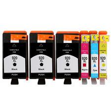 6 Ink Cartridge Unbrand Fits hp 920XL Officejet 7000A 7500A E609a E609n 6500A