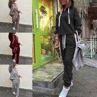 2Pcs Tracksuit Women Hoodies Sports Tops Pants Sweatshirt Sweat Suit Jogging Set