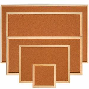 Large Cork Notice Board 900 x 600 mm Pin Board Corkboard Memo Frame Office