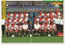 104 TEAM SQUAD SUAQDRA FEYENOORD ROTTERDAM NETHERLANDS VOETBAL CARD 94 PANINI
