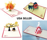 HelloPopCards 3D Pop Up Card Happy Birthday Greeting Card. Ships from USA FREE!
