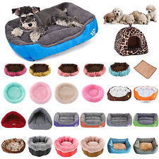 Winter Warm Fleece Pet Bed Dog Multi Lunoger Cushion Cat Kennel Puppy Mat Lot