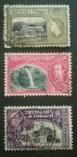 N°163 - 3 timbres TRINIDAD & TOBAGO 12C/24C/60C