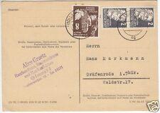 Bedarfspostkarte, DDR Mi.-Nr. 277 Mif 2 x 212, o Leipzig C 11, 31.7.51