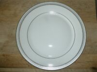 "Mikasa L3428 Platinum Crown 10 3/4"" Dinner Plate Fine China New - Free Shipping"